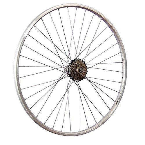 Taylor-Wheels 28 Zoll Hinterrad YAK19 / 6fach Shimano Schraubkranz - Silber