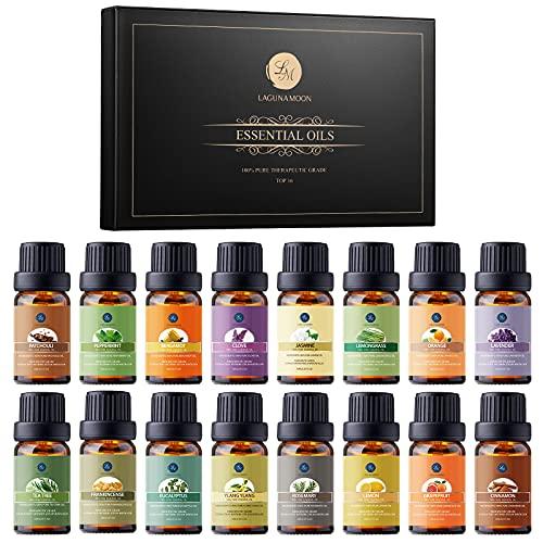 Lagunamoon Essential Oils Gift Set 16 x 10mL Essential Oils for...