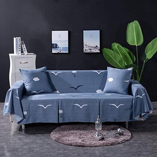 BANNAB Funda para sofá, Resistente a Las Manchas Funda para sofá Antideslizante Funda para sofá Funda Lavable para sofá Protector para sofá con Falda-d 1 Plaza 195 * 200cm