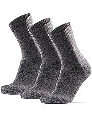 Hiking Socks in Light Merino Wool for Men, Women & Kids, Lightweight, Trekking, Outdoor, Cushioned, Breathable, 3 Pack
