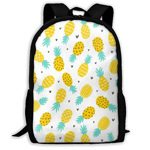 Oswz Delicious Fruit Yellow Pineapple Travel Backpack Insulated Soft Lunch Cooler for Men Women, Best for Picnic, Hiking, Travel, Beach, Sports, Work