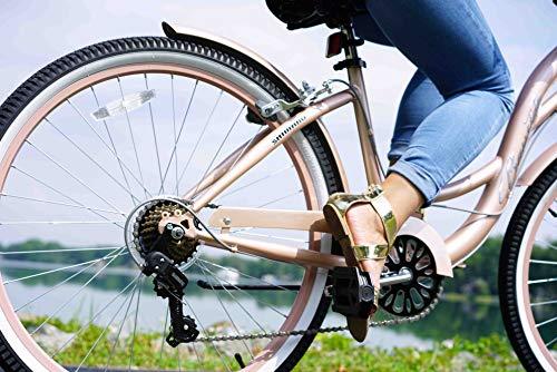 "51OK9aq9qbL. SL500 Kent 26"" Bayside Women's Cruiser Bike, Rose Gold"