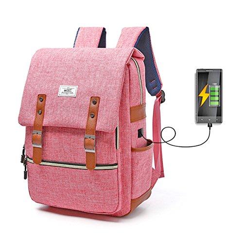 Sac à Dos Ordinateur Portable, gracosy Sacs Scolaire Cartable en Nylon Imperméable Super léger 30L Backpack avec Prise USB pour Hommes Femmes École Étudiant Enfants Business Ordinateur 14 15,6 Pouce