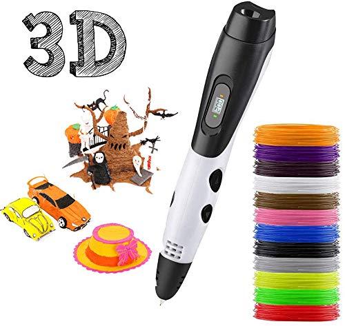 3D Pen, 3D Printing Pen with 12 Colors PLA Filament, 3D Drawing Pen with LCD Screen, 3D Printing Pen...