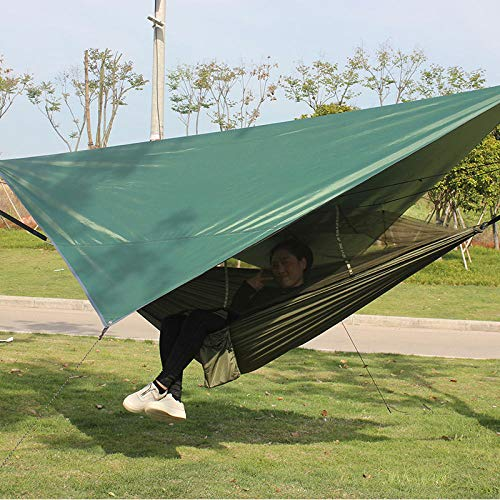 YSCYLY Outdoor Hamac de Jardin,Ensemble de Tente à baldaquin pour hamac moustiquaire,Idéal pour Camping, Activités en Plein Air, Jardin