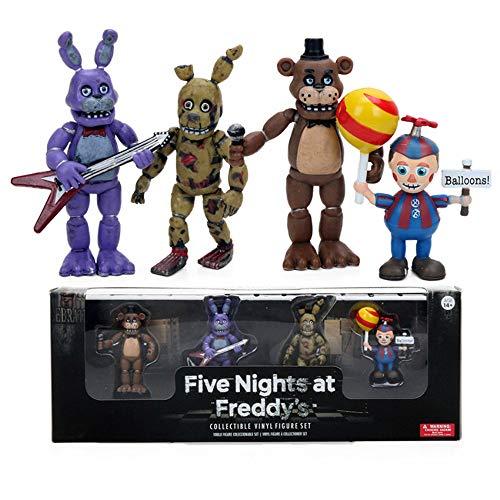 Yzoncd Five 4 Nights At Freddy'S PVC Figura De Acción Set PVC Freddy Fazbear Bonnie Chica Foxy Sister Ubicación Modelo Muñecas