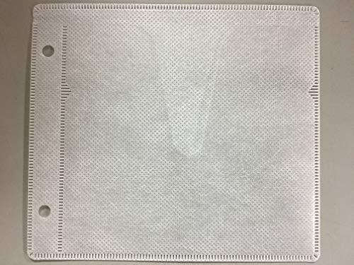 CD DVDケース 不織布 両面収納(Vカット) 厚手 2穴付 1パック100枚入 200枚収納可 ホワイト (100枚入( 両面200枚収納))