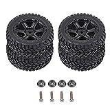RC Crawler Neumático, 4pcs/Set Camión Militar RC Neumáticos de Goma para WPL C14 C24 Control Remoto Crawler Car(6 Holes)