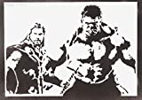 Hulk und Thor Poster The Avengers Plakat Handmade Graffiti Street Art - Artwork