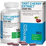 Bronson Tart Cherry Extract 2500 mg Vegetarian Capsules with Antioxidants and Flavonoids Non-GMO Gluten Free Soy Free 180 Count