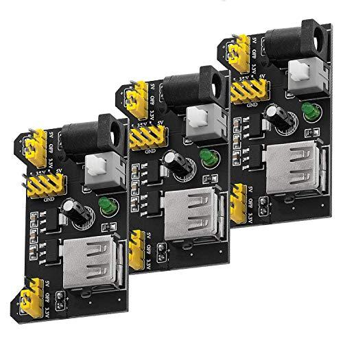 AZDelivery 3 x MB102 Breadboard Netzteil Adapter Power Supply Modul 3.3V/5V kompatibel mit Arduino