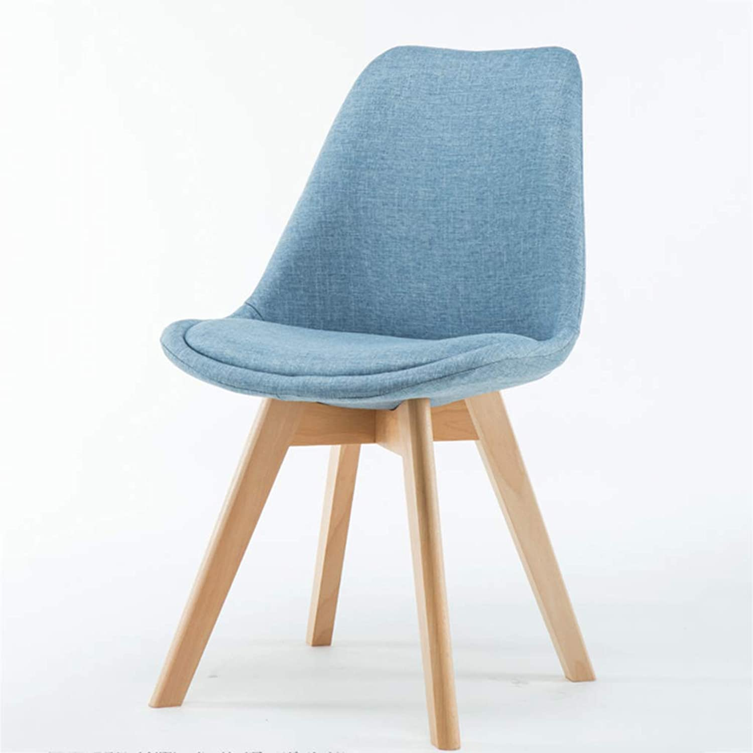 Chair Simple Fabric Chair Nordic Fabric Solid Wood Dining Chair Coffee Hotel Conference Negotiation Chair Household Stool Dining Chair Size  83  40cm,Pink
