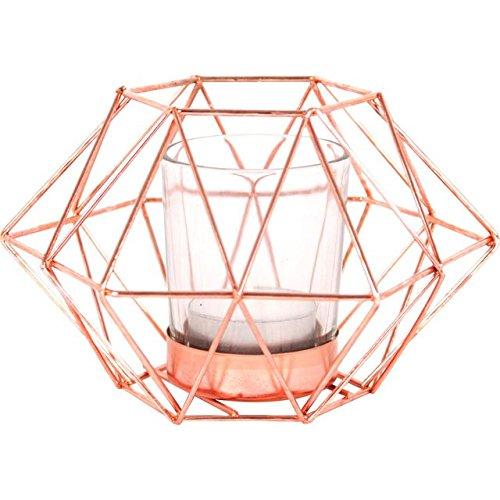 Jones Home and Gift achteckiger geometrischer Kerzenhalter, Mehrfarbig