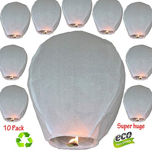 Nuluphu 100% ECO Biodegradable Flying Chinese Sky Lanterns, No Assembly...