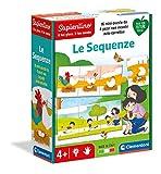 Clementoni - Sapientino-Le secuencie-Juego Educativo 4 años (versión en Italiano), cartón 100% Reciclado, Play for Future-Made in Italy, Multicolor, 16311