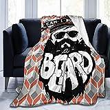 aiteweifuzhuangdian Kann ich Ihnen eine Bart-Flanell-Decke kaufen? Warme Decke 60 '' x 50 große weiche Decke
