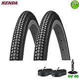 2 x Kenda K-103 Fahrradreifen 27 x 1 1/4-32-630 schwarz + 2 Schläuche DV