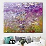 YHZSML Impresión Moderna Claude Monet Nenúfar Estanque Paisaje Pinturas al óleo Reproducción Impresiones Art B 30x40CM