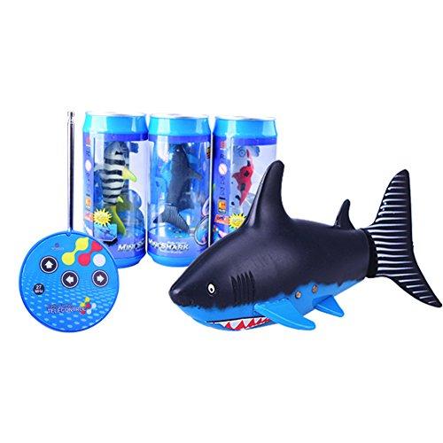 Faironly Nadador de tiburón a control remoto, mini RC Fish Boat juguete...