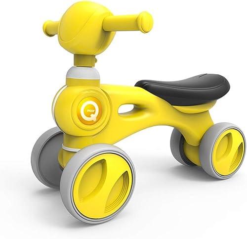 Los mejores precios y los estilos más frescos. Balance Bike Bicicleta Sin Pedales,Equilibrio para para para Niños Car Baby Four Rounds Walker para 1-3 Yaer, amarillo  en stock