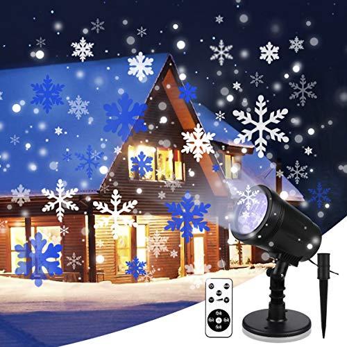 LED Projektionslampe YUE GANG Leuchtet Rotierende Schneeflocke Schneesturm Weihnachtslicht Projektor Ip65 Wasserdicht Projektionslampe für Weihnachten Geburtstag Party Hochzeitsurlaub