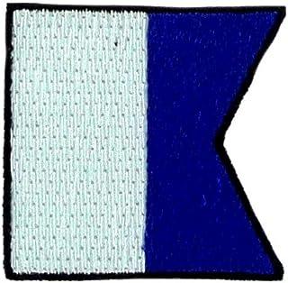 Patch Logo Ricamato Applica Bandiera Codice Alpha A segnali Marittimo Backpack