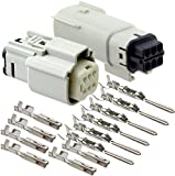 Molex 6 Pin Wire Connector, Harley Light Gray Waterproof, Sealed Kit, MX150 w/CPA