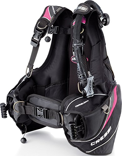 Cressi Travelight BCD, Black/Pink X-Small