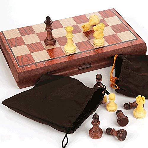 Aocean Juego de ajedrez Juegos l Adultos Niños Tablero de ajedrez Micro-magnético l Juego de ajedrez con Tablero de ajedrez Plegable Juguetes educativos para niños Adultos, portátil Educativo B