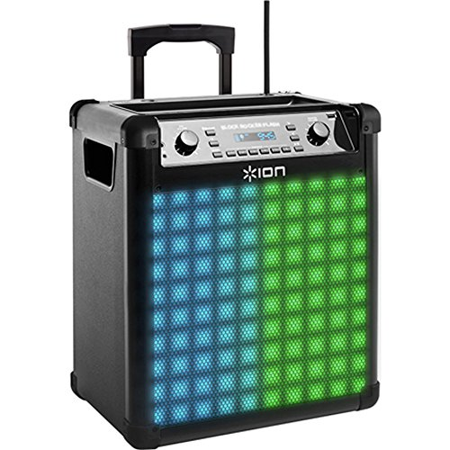 ION Audio-Block Rocker Max-Wireless Rechargeable Speaker with Dynamic Multi-Color Lighting Flash