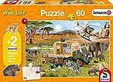 Schmidt Spiele 56384 Schleich, Abenteuerliche Tierrettung, 60 Teile Kinderpuzzle, mit Zwei Original Figuren