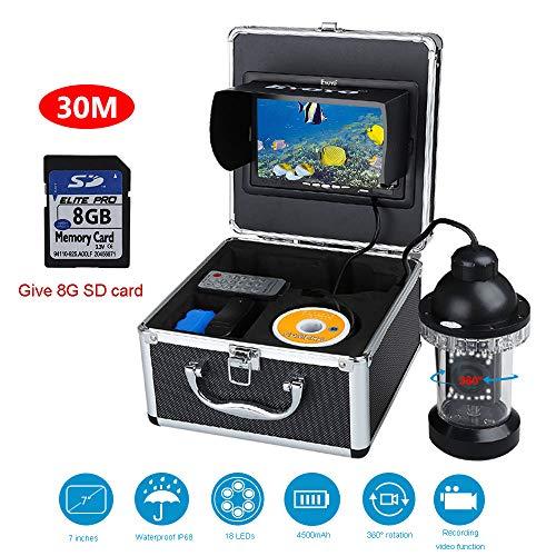 STHfficial onderwatercamera Perzik, 7 inch HD Fish Detector bewakingscamera met infrarood 360 ° draaibaar infrared