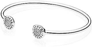 Women's Signature Open Silver Bangle - 590528CZ-1