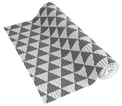Venilia Insert en Mousse Souple Tapis Veni Soft Base antidérapante, PVC, Triangel, Blanc Anthracite, 65 x 200 x 0,5 cm, 54806