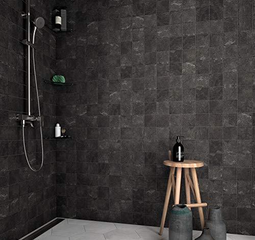 Nais - Baldosas cerámicas para suelos y paredes - Colección Alpstone - Color Graphene (10x10 cm) - Caja de 0,5 m2 (50 piezas)
