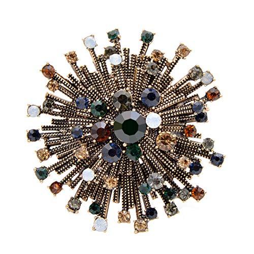 ZHENZHIA broche 2 kleuren selecteerbaar strass bloem vintage voor vrouwen mantel elegant sieraad herfst broche