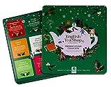 English Tea Shop Caja de regalo de lata de metal con selección de 9 tés diferentes y tés orgánicos con sabores navideños - 1 x 72 bolsitas de té (108 gramos)