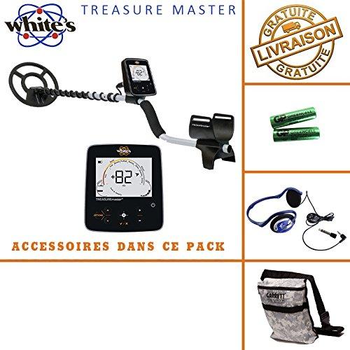 White 's Treasure Master - Detector de metales, incluye casco, auriculares y bolsa
