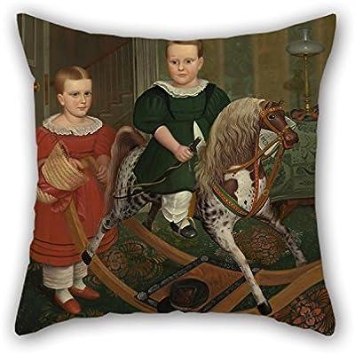 N\A Funda de Almohada de Pintura al óleo Robert Peckham - The Hobby Horse For Husband Christmas Deck Chair Bar Ropa de Cama Sofá (Cada Lado)