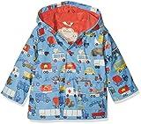 Hatley Boys Printed Rain Jacket, Blue (Rush Hour), 4 Years