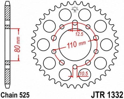 JT Sprockets JTR744.36 36T Steel Rear Sprocket tr-248391