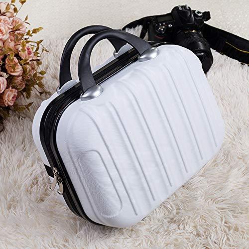HilMe Trousse de maquillage rigide et portable, Pas de zéro, blanc, Taille unique