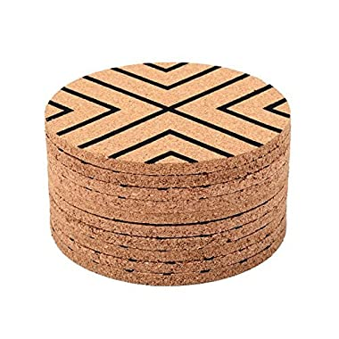 Seamersey Cork Coasters - 4 Inches Perfect for Most Kind of Glasses - Save Your Furniture Surface From A Liquid Ring - Set of 10