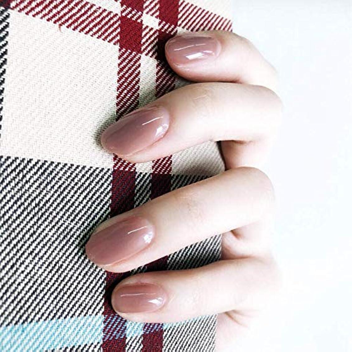 拮抗まつげクリケット24枚入 無地ネイルチップ 可愛い優雅ネイル ins流行する ゼリーネイルチップ 多色オプション 結婚式、パーティー、二次会など 入学式 入園式 ネイルジュエリー つけ爪 (グレーピンク)