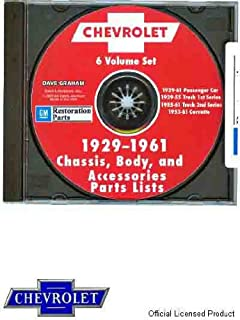 COMPLETE 1929-1961 CHEVROLET PARTS & ACCECSSORIES LIST ON CD-ROM
