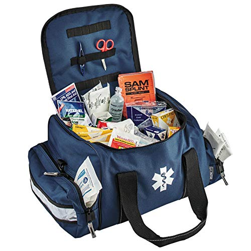 Ergodyne Arsenal 5215 Large Trauma Bag, Blue, with Class A+ First Aid Kit Supplies Included