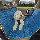 Kurgo K01401 Wasserdichte reversible Auto-Sitzbezüge für Rückbank von Autos für Hunde und Haustiere, Stil Loft blau-grau