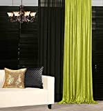 Sequin Curtains 2 Panels 2FTx7FT Lime Green Sequin Backdrop Curtain Party Photography Background for Wedding Birthday Bridal Baby Shower