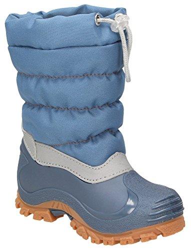 Spirale Eric kozaki zimowe dla chłopców i dziewczynek, buty zimowe dla małych dzieci, kozaki dziecięce, kozaki, Canadian Boot, z ciepłą podszewką, odporne na działanie wody niebieskie (jasnoniebieskie (230)), EU 23