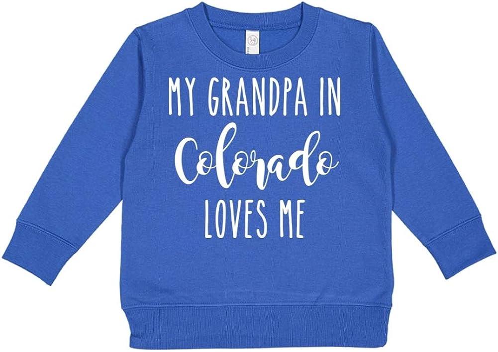 Toddler//Kids Sweatshirt My Grandpa in Colorado Loves Me